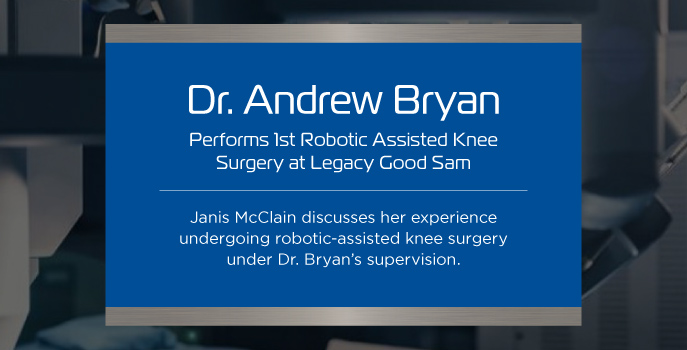 First Good Sam robotic-assisted knee surgery patient excited for future