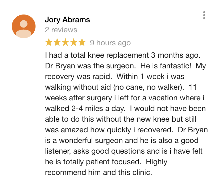 Dr Bryan Knee Surgery Review Portland Oregon